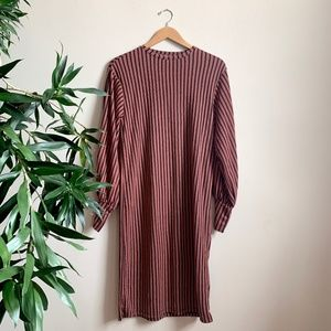 ZARA - Long Sleeve Striped Dress